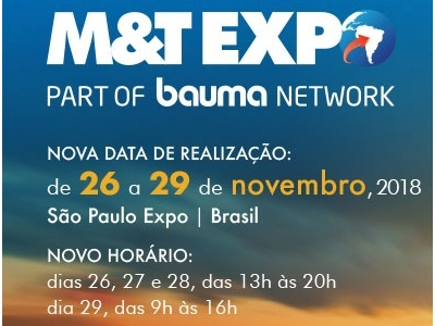 Nova data da M&T Expo 2018 está definida